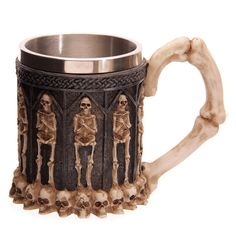 Skeleton Fantasy Crypt Skull Tankard Cup Gothic by getgiftideas