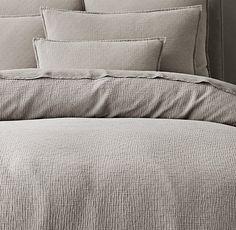 Garment-Dyed Cotton Gauze Duvet Cover