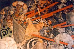 Jean Charlot, Masacre en el Templo Mayor, 1922–23