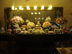 Decoração YCSA - mesa de bolo sobre um barco