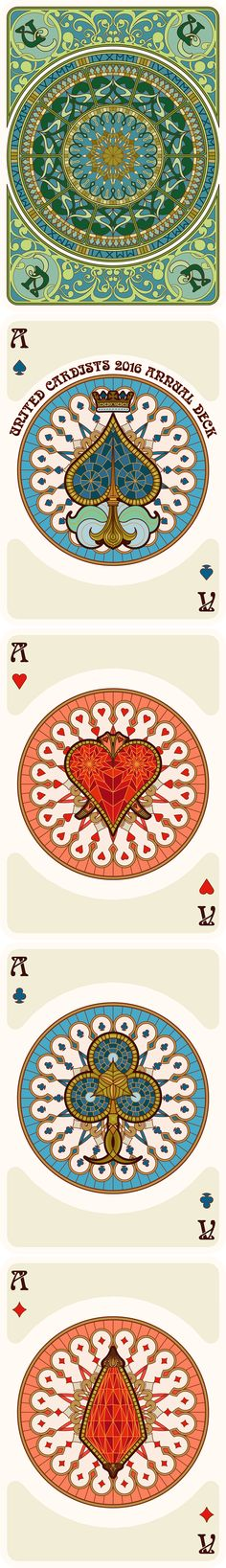 NOUVEAU Playing Cards Back, Ace of Spades, Ace of Hearts, Ace of Clubs, Ace of Diamonds - playing cards art, game, playing cards collection, playing cards project, cards collectors, design, illustration, card game, game, cards, cardist, cardistry