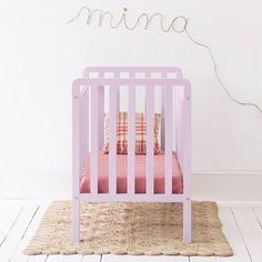Mina crib in powder pink color 💕by xo-inmyroom