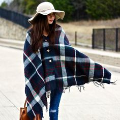 Bundle up with this cozy #plaid button #scarf, and add both function and style to your outfit! #Plaid is a classic, timeless choice, yet on trend for fall. You have your choice of 4- color options.