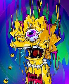 Melting Lisa, The SimpsonsYou can find The simpsons and more on our website.Melting Lisa, The Simpsons Simpsons Drawings, Simpsons Art, Disney Drawings, Cartoon Drawings, Drawing Disney, Trippy Cartoon, Dope Cartoon Art, Dope Cartoons, Dope Wallpapers