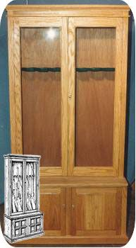 Gun cabinet plans, Build Your Own Woodworking Plans Gun cabinet woodworking plans.