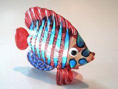 Aquarium Handcrafted MINIATURE HAND BLOWN GLASS Fish FIGURINE Collection # 115
