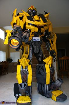 Bumblebee Transformers Costume & Homemade Atom Robot Costume from Real Steel | Pinterest | Robot ...