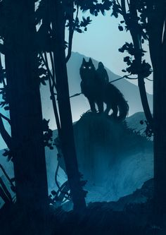 Wolf of the north [I know where you are by Ashline-illus on DeviantArt] Fantasy World, Fantasy Art, Wolf Spirit, Throne Of Glass, Mononoke, Fantasy Inspiration, Mythical Creatures, Les Oeuvres, Illustration