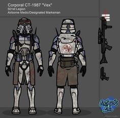Star Wars Concept Art, Star Wars Fan Art, Fantasy Armor, Sci Fi Fantasy, Star Wars Clone Wars, Star Trek, Halo Spartan, Star Wars Personajes, 501st Legion