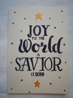 Christmas cards handlettering joy to the world