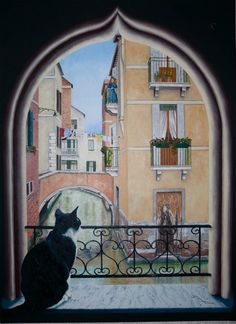 C'est qui Chat?  By Denis Ory oil on canvas available for purchase on www.passionartly.com By buying this artwork you are doing a good deed, we pledge to donate 5% to the association :French Esophageal Atresia Association (AFAO) - French Charity for Children