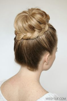 Prom and bridal season are here and I am so excited to be featuring a tutorial for this hairstyle. I've seen it before on younger girls but think it is a perfect style for a more formal occasion. High buns are so chicand I know with a bit of practice you can master this technique. I've already featured the dutch and fishtail versions which you can find here and here so after you try this one be sure to check out the other ones as well! French Braid High Bun Supplies: Optional: Luxy Hair…