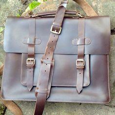 Leather Man Bag x Briefcase l Brown