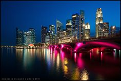 City Lights ~ Singapore's successful Central Business District by Danskie.Dijamco.Photography, via Flickr