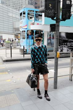 Bryanboy in Hong Kong for a project with Paul Smith