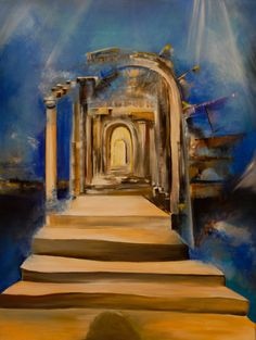 Tor in Arcryl  75 x 100 cm Painting, Art, Art Therapy, Art Gallery, Artworks, Pictures, Art Background, Painting Art, Kunst
