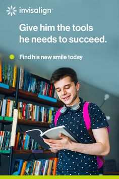 Invisalign® treatment can straighten your teen's smile without interrupting his life (or study schedule!). He could join the more than 1 million teens who have transformed their smiles with Invisalign clear aligners!   Find an Invisalign-trained orthodontist near you today to get started.
