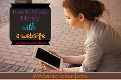 """One of the questions I get asked on a regular basis, is """"How you can make money with a blog or website.""""  Starting a website because it has allowed many people to earn full-time income from home"""