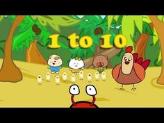 Numbers Song - Counting From 1 - 10 - The Singing Walrus - English for children YL / ESL / EFL - YouTube