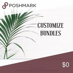 Create your own! Add items to a bundle I'll offer! I'll gladly take initiative to make an offer on a custom bundle that exceed the 15% bundle price I offer! Feel free if you like the items and not the price and want to save on shipping! Or let me know if you're looking for something specific! ❤️❤️❤️❤️ Accessories