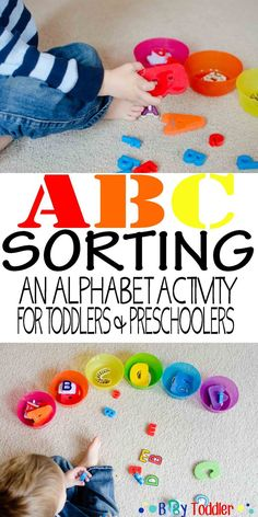 ABC Sort. An alphabet activity for toddlers and preschoolers. Could work on letter names or letter sounds.