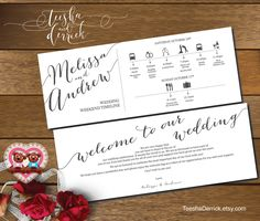 Printable Wedding Weekend Timeline (t0100) Wedding Itineraries, with welcome note for Welcome Bags  in typography theme theme by TeeshaDerrick on Etsy https://www.etsy.com/listing/249698296/printable-wedding-weekend-timeline-t0100