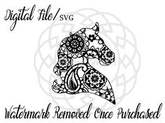 A personal favorite from my Etsy shop https://www.etsy.com/listing/491850461/horse-head-horse-svg-horse-mandala
