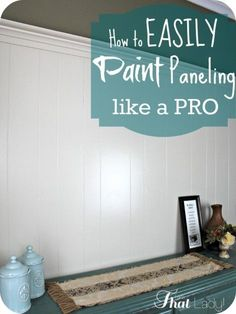 Easy Home Repair Hacks - Easily Paint Paneling Like A Pro - Quick Ways To Fix Your Home With Cheap and Fast DIY Projects - Step by step Tutorials, Good Ideas for Renovating, Simple Tips and Tricks for Home Improvement on A Budget Paint Over Wood Paneling, Wood Paneling Makeover, Paneling Walls, Painting Paneled Walls, Cover Wood Paneling, Panelling, Home Renovation, Home Remodeling, Bedroom Remodeling