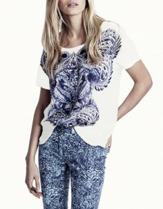 48c249da945ce 2013 brand T shirt tops for women Fashion street style casual elegant  pattern print loose o-neck short-sleeve plus big size