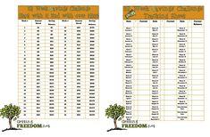 52 Week Savings Challenge Printable and Tracking Sheet