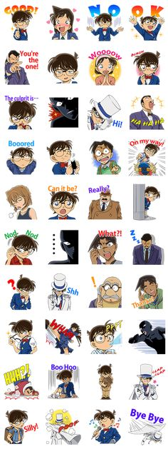 The household favorite Detective Conan is back in a new sticker set! Celebrating over 20 years since its first publication, you definitely won't want to take your eyes off of these!