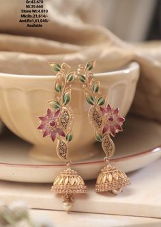 So different So different yet so lovely Indian Wedding Jewelry, Bridal Jewelry, Antique Jewellery Designs, Jewelry Design, Antique Earrings, Gold Earrings, India Jewelry, Girls Jewelry, Jewelry Patterns