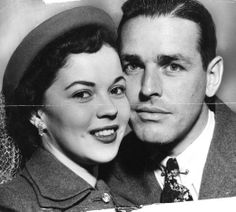 1950 -- Shirley Temple weds Charles A. Black.  Her second marriage.        Pinning made easy! http://www.pinny.co Pin any photo in any website with a click.