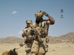 DEVGRU operators down range in Afghanistan, c. Army Police, Army Soldier, Military Working Dogs, Military Weapons, Military Art, Luftwaffe, Marsoc Marines, Special Forces Gear, Tactical Operator