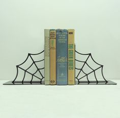 Spiderweb Bookends - Free USA Shipping. $44.99, via Etsy.