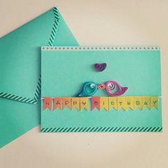 Tanti auguri! #auguri #happybirthday #buoncompleanno #greetingscards #greetings #quilling #diy #fattoamano #homemade #auguri