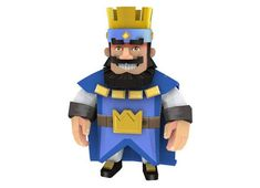 Clash Royale - King Free Papercraft Download - http://www.papercraftsquare.com/clash-royale-king-free-papercraft-download.html#ClashRoyale, #King