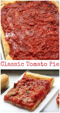 Classic Tomato Pie - this is delicious!!! Perfect for Superbowl Parties!