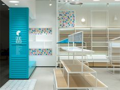 Several White Materials With Different Textures Are Shown In The Open Store  Space That Is Dotted
