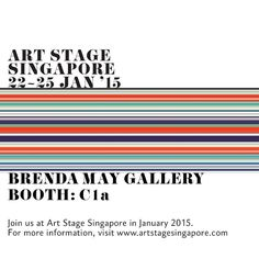 Tonight is the vernissage of @artstagesg! Find us at booth C1a #bmgartstage #artstage2015 #robertboynes #artstagesingapore