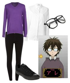 """""""Haruhi Fujioka"""" by avagrods on Polyvore featuring Anthony Vaccarello, Dorothy Perkins, Cooperativa Pescatori Posillipo and Converse"""