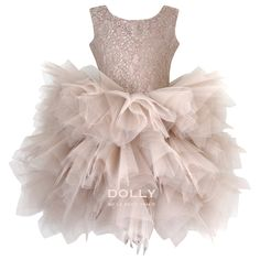 Buy Ballerina Style Taupe Tutu Dress and many more Party Outfit clothes from a variety of brands such as Le Petit Tom online today at Angelibebe Singapore. Gowns For Girls, Little Girl Dresses, Flower Girl Dresses, Tutu Dresses, Flower Girls, Girls Dresses, Silver Dress, Gold Dress, Sequin Dress