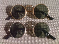 Lot Of 2 Sunglasses With Round Lenses 70s Style Glasses Set 60s seventies Retro