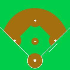 Printable Baseball Diamond Diagram Baseball Pinterest Baseball