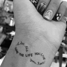 Love the placement....want one on my wrist
