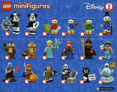 Lego mini figures, Disney, Series Single Figure (s), 71024 Select Lego Film, Lego Movie, Lego Disney, Lego Creator Sets, Disney Minifigures, Lego Minifigs, Legos, Batman Movie 2017, Serie Disney