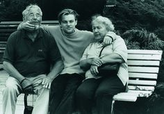 Leo in 1994 with his grandparents