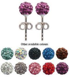 #1: GlitZ JewelZ Crystal Silver Stud Earrings/Pendants
