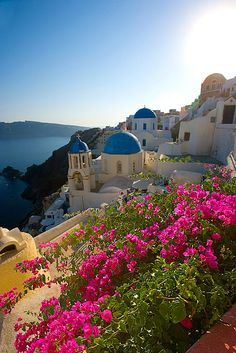 VISIT GREECE| Santorini, Greece, Nature in blossom, Greece in celebration. Dazzling sunshiny days tempt us to rush to green fields, meadows in full bloom, gurgling rivers, and still lakes. Spring is the time when Mother Nature strokes Earth with its colours and aromas to create a place you call a dream; a place we call Greece!