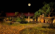 Hobbiton nights by Warquis on DeviantArt It Works, Deviantart, Night, Painting, Painting Art, Paintings, Painted Canvas, Nailed It, Drawings